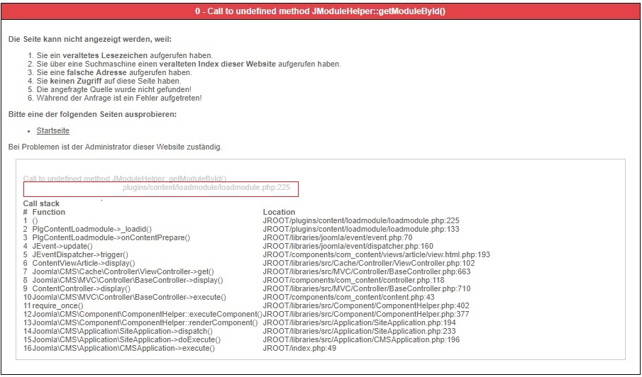 0 call to undefined method jmodulehelper getmodulebyid 2